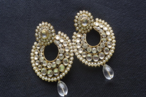 a0c72735d5adb0 BEST ONLINE JEWELELRY STORE IN India. Home / Designer Earrings with stones  and White ...