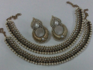 buy designer beautiful online designers payal glowing chandni pearls original anklet designs adiva