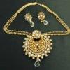 Imitation beautiful floral kundan pendant set