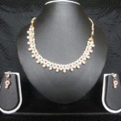 Artificial-Jewellery-Multicolour-Floral-Pearl-necklace-set