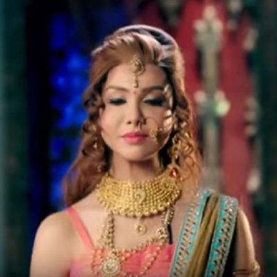 Chandra Nandini – Helena's Bridal Jewellery set in Gold Tone