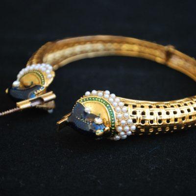 Imitation artificial jewellery bridal peacock motif jadau