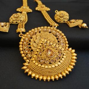Imitation exquisite artificial long haram necklace set