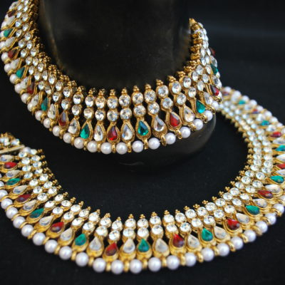 Imitaion multicolour stone studded bollywood payal