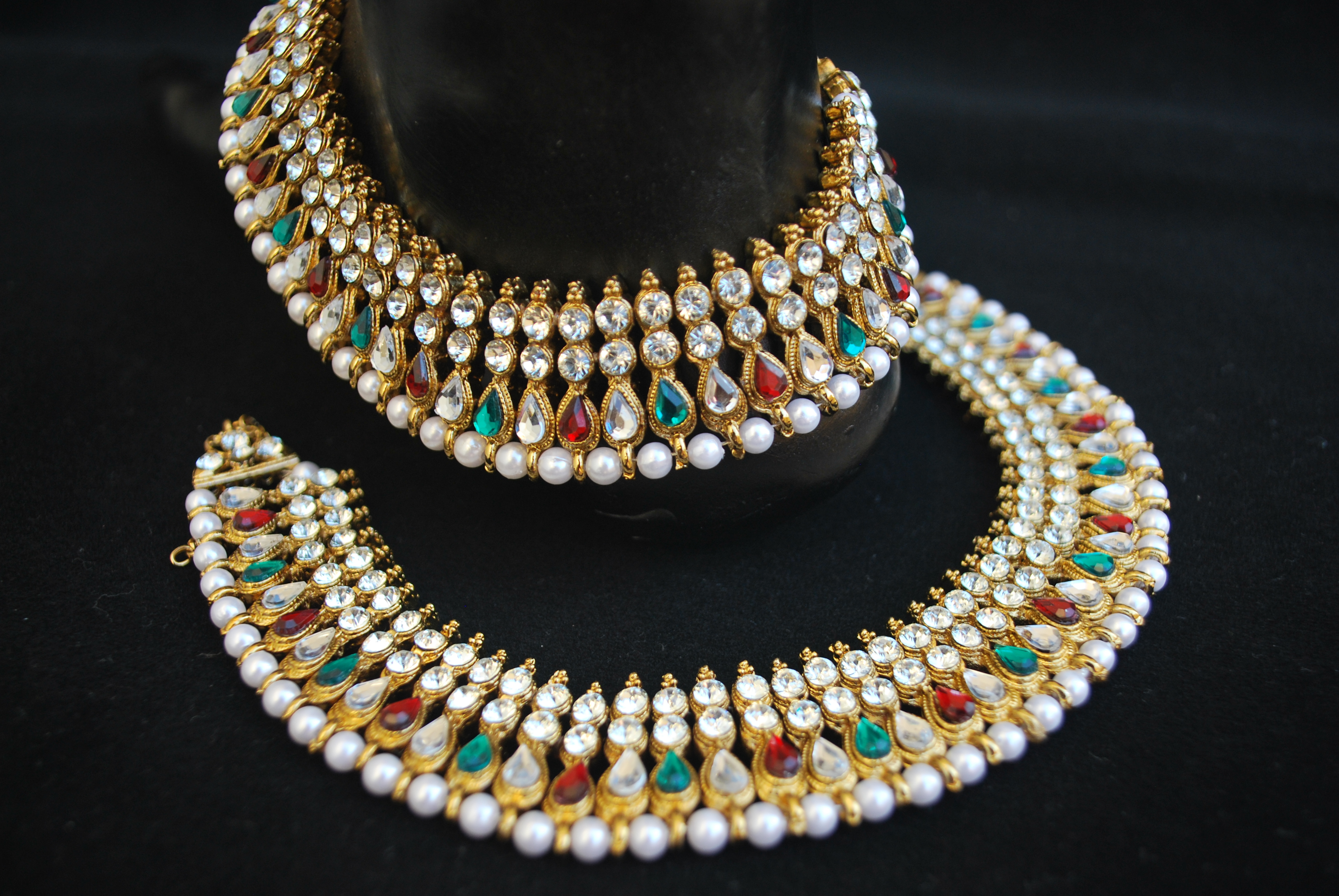 Artificial Jewellery - Multicolour Stone Studded Bollywood Payal