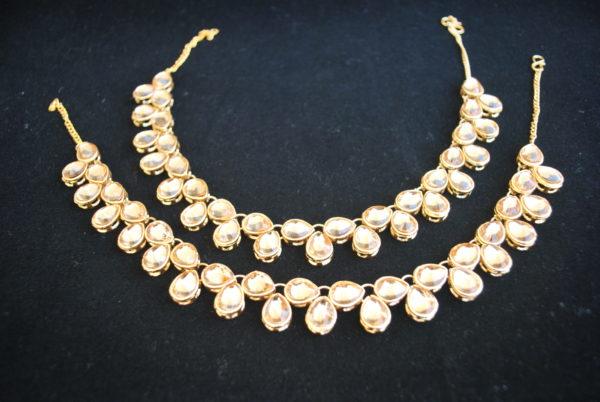 Imitation jewellery bollywood golden stone studded payal