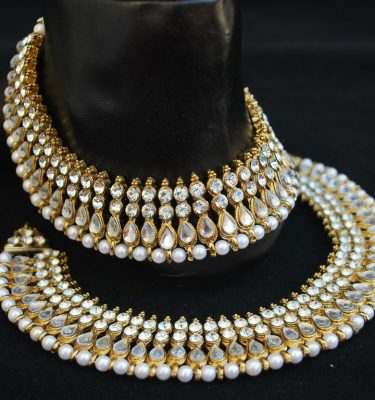 Bollywood White Stone Studded Payal