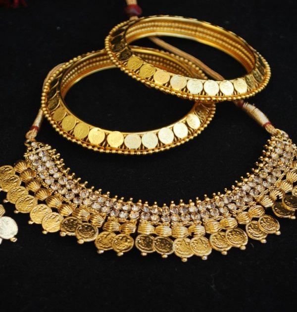 f0c9771558 mitation gunie laxmi necklace set matching gunie bangles