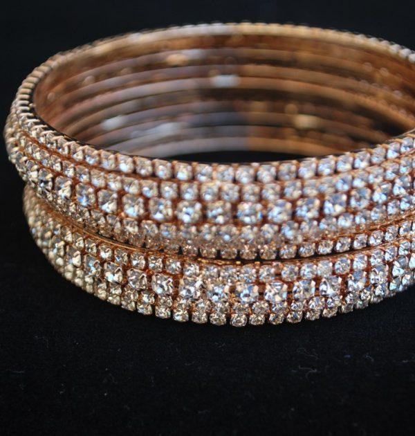 White dimond design bangles