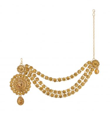 Imitation Bedazzaled Gold Tone Hair Accessory