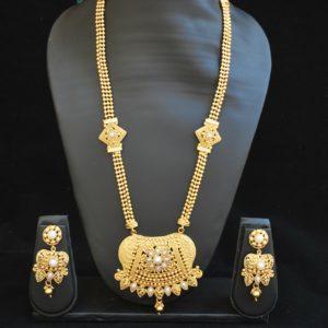 Imitation reeti fashions – traditional imitation rajwadi long white kundan