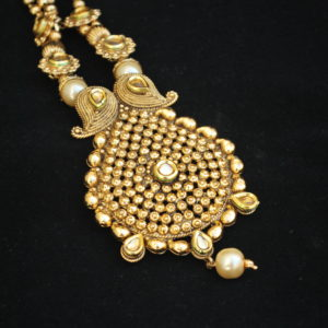 artificial jewellery – antic gold tone necklace set-1