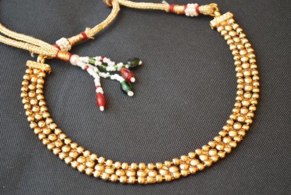 artificial copper base single line necklace
