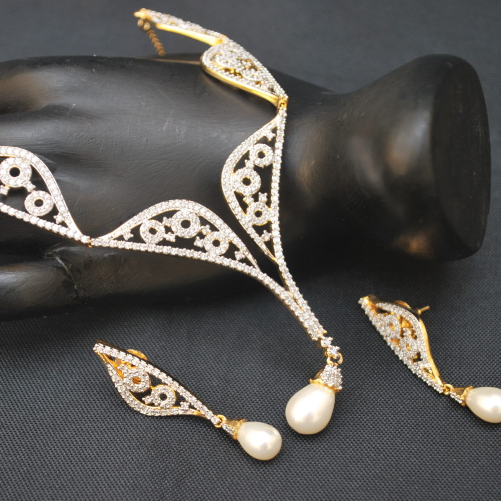 artificial fascinating ad necklace set-1