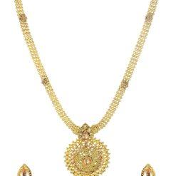 artificial golden long necklace sets