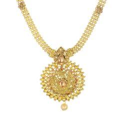artificial golden long necklace sets-3