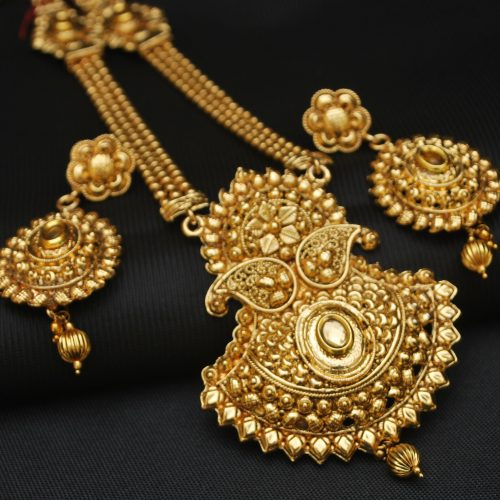 artificial traditional artificial long necklace set