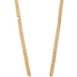 Imitaion artificial white stone studded round motif long haram necklace set for weddings
