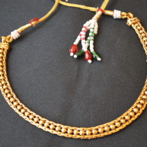 imitation artificial copper base single line necklace