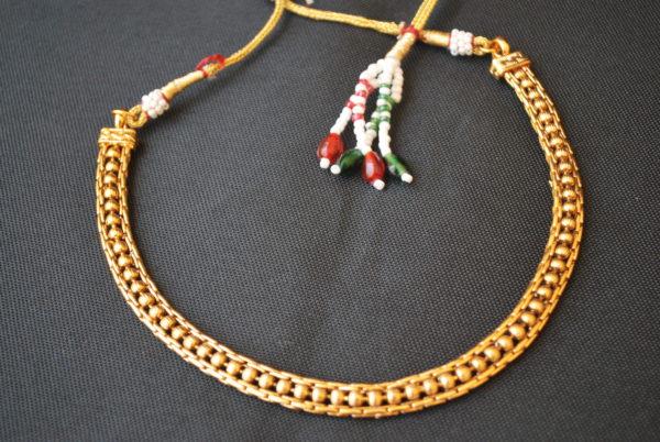 imitation artificial copper base single line necklace