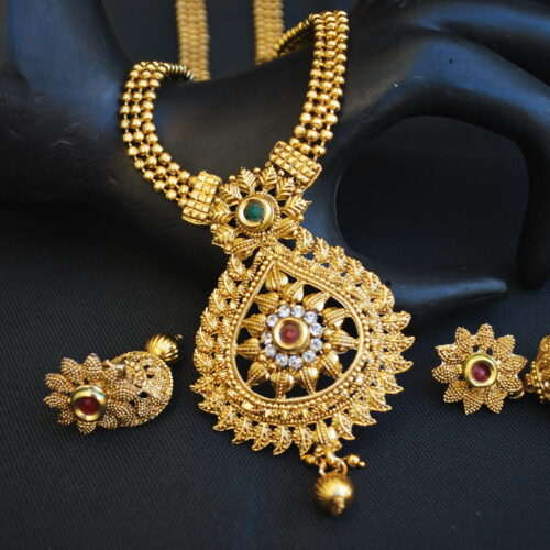 artificial multicolour intricately designed indian wedding jewelry