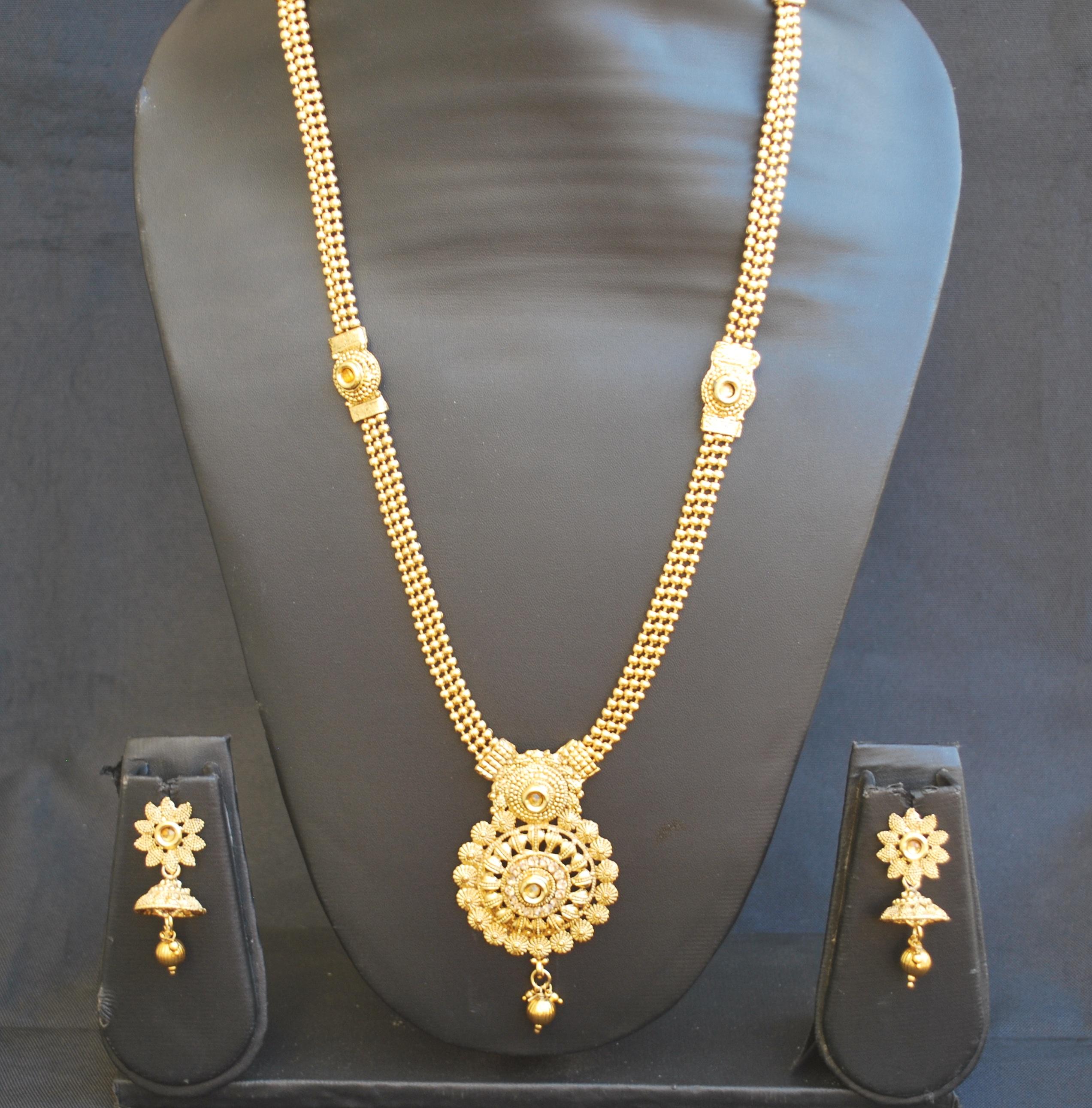 Artificial Traditional Fine Meenakari Long Haram Style