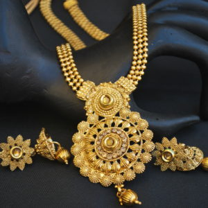 artificial traditional round motif artificial jewellery sets