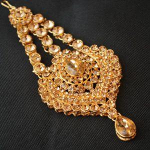 Imitation golden heart shape metal passa