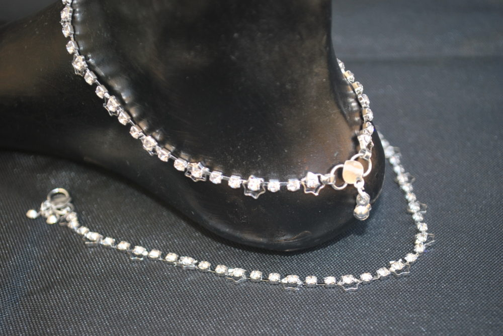product base metal anklets artificial fashions anklet imitation reeti for women silver ladies