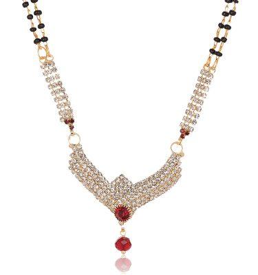 artificial reeti fashions gold base metal mangalsutra for women