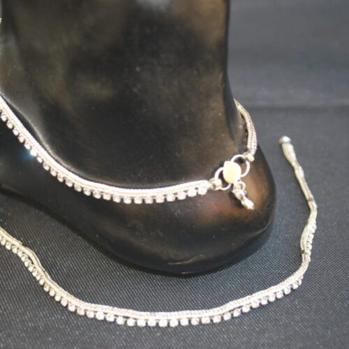 Artificial Silver Base Metal Anklet for Women-1