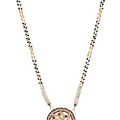 artificial traditional gold base metal mangalsutra for women-1