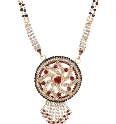 artificial traditional gold base metal mangalsutra for women