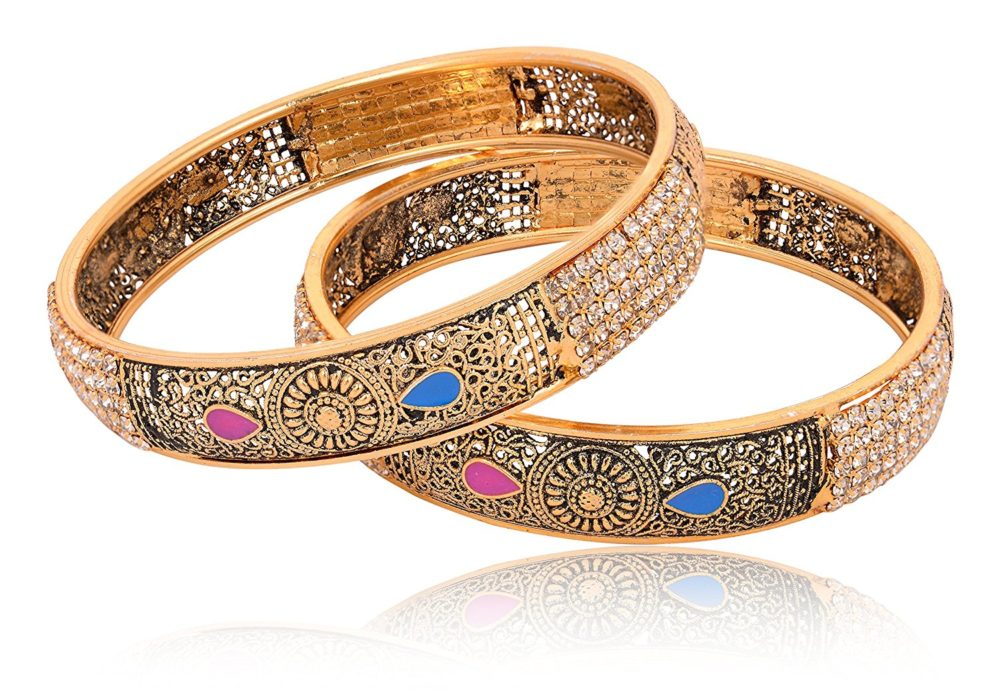 fashions women bangle gold imitation product metal base reeti set for