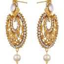 Imitation Gold Plated Dangle & Drop Earring with Maang Tikka Set for Women-1
