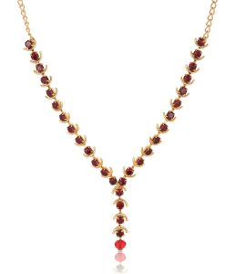 Imitation Red Stone studded Choker Necklace for Women-2