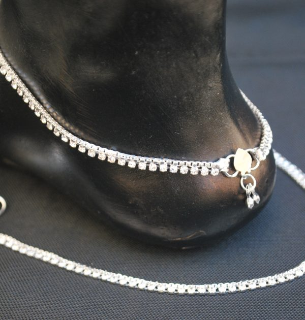 Imitation Silver Base Metal Anklet for Women-1