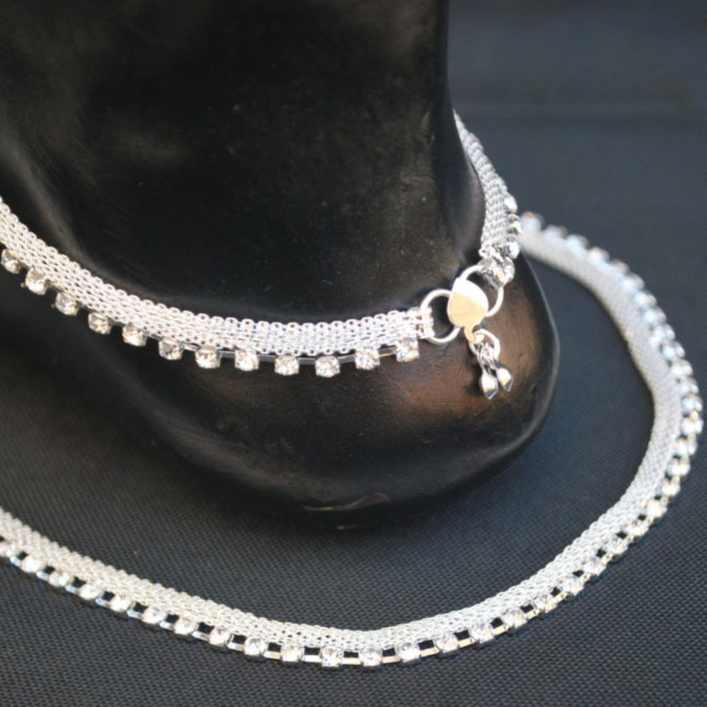 Reeti Fashions Artificial Silver Base Metal Anklet for Women-1
