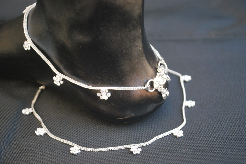 chain pin tone anklet for sterling anklets s kohl herringbone silver reversible two ladies