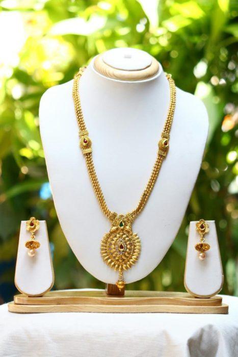 69c48af761 Imitation Jewellery Long Traditional Necklace Set
