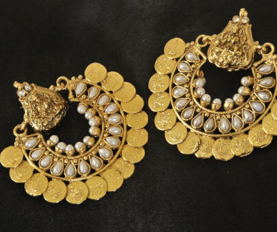 Ram Leela Pearl temple earrings