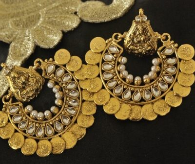 Kundan Ram Leela Earrings