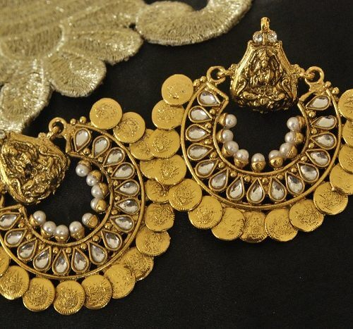 Kundan Ram Leela Earrings