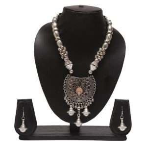 Oxidized jewellery necklace set -navratri jewellery (Copy)