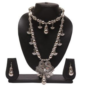 Oxidized jewellery necklace set -navratri jewellery
