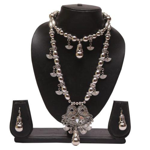 Oxidized jewellery necklace set -navratri jewellery