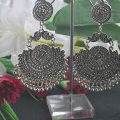 Oxidized earrings danglers
