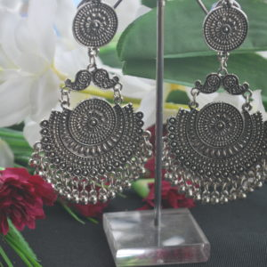 Oxidized earrings danglers