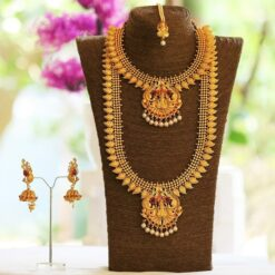 Traditional south indian bridal jewellery set with mango motif