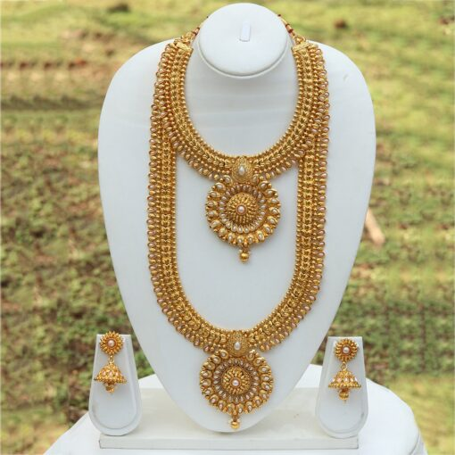 South Indian bridal jewellery in copper